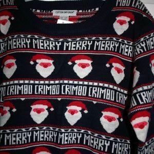 Cotton Emporium Sweaters - Women's XL holiday Merry Crimbo Christmas Sweater